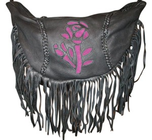 Other Fringed Crossbody Hobo Bag