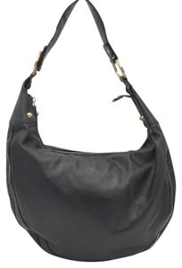 Fendi Leather Goldtone Designer Hobo Bag