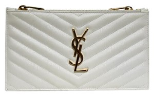 Saint Laurent Ivory/Bone Clutch