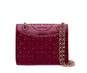 Tory Burch Chain Fleming Quilted Cross Body Bag