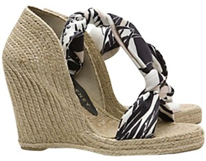 Stella McCartney Hemp Japanese Black&White Wedges