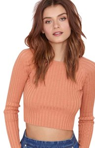 For Love & Lemons Knit Crop Ribbed Fall Sweater