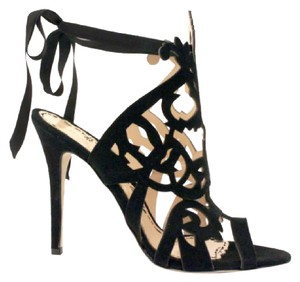 Marchesa black suede Sandals