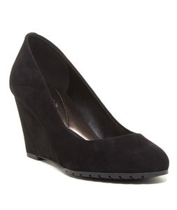 Easy Spirit Work Wedge Suede Cute Black Pumps