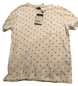 Rag & Bone Tee Pocket Tee & T Shirt White with Black Stars