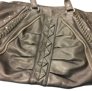 Enzo Angiolini Satchel in charcoal