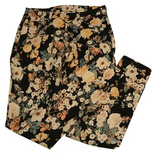 7 For All Mankind Fun Straight Pants Floral Pattern