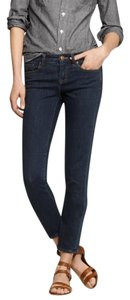 J.Crew Toothpick Stretchy Dark Rinse Ankle-length Skinny Jeans-Dark Rinse