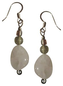 NEW Handmade Genuine ROSE QUARTZ Bead Drop EARRINGS Buy3Get1FREE