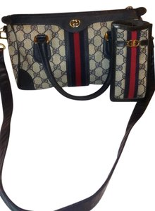 Gucci Boston Speedy 2pc Set Vintage Satchel in blue