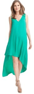 Emerald green Maxi Dress by BCBGMAXAZRIA Highlow Silk Maxi Bcbg