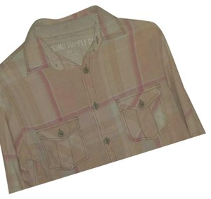 Mossimo Supply Co. Button Down Shirt Pastel Pinks, Peach