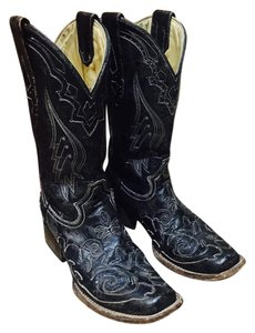Corral Boots Western Corral Cowgirl Vintage Inlay Black Boots