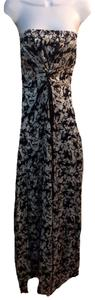black,white floral Maxi Dress by S-Twelve