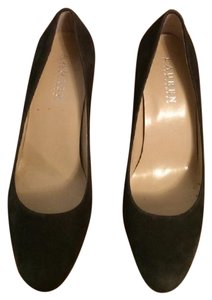 Ralph Lauren Suede Gray Dark Grey Pumps