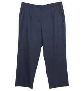 Alfred Dunner Straight Pants Blue