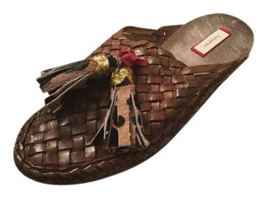 Other Babouche Bohemian Tassels Figue Brown Flats