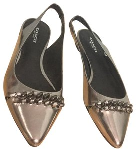 New Coach shoes size 6 silver Flats