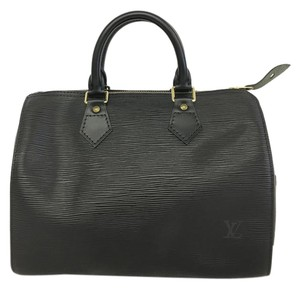Louis Vuitton Lv Epi Speedy 25 Tote in Black