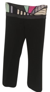 Lululemon Pants Black, with colored waistband Leggings