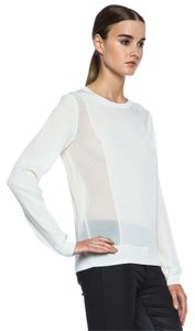 Vince Sheer Chic Silk Top Ivory