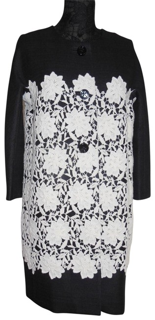 Item - Black Madison Ave Collection Couri White 2 Button Coat Size 8 (M)