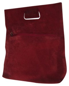 Gucci Early Piece Mint Vintage Hard To Find Style Great Pop Of Color Perfect For Travel Tote in red suede and leather
