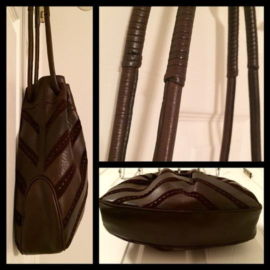 Salvatore Ferragamo Vintage Leather Suede Shoulder Satchel Unique Hobo Bag