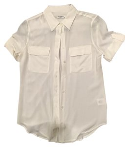 Equipment Button Down Shirt WHITE