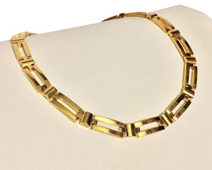 Napier rare block heavy gold plated link necklace by Napier