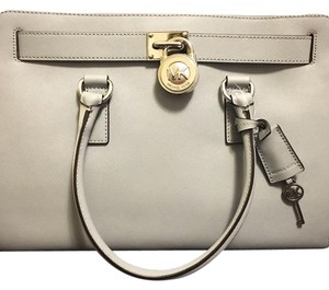 Michael Kors Satchel in Dusty Blue with Silver Hardware
