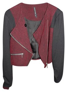W118 by Walter Baker Black and Burgundy Blazer