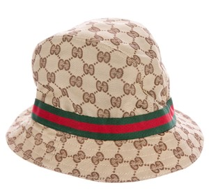 Gucci Gucci beige, brown Guccissima monogram bucket hat L