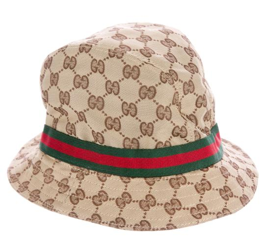 gucci beige brown guccissima monogram bucket l hat tradesy. Black Bedroom Furniture Sets. Home Design Ideas