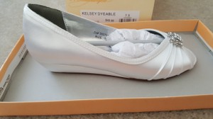 David's Bridal Kelsey Dyeable Wedding Shoes