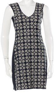 Chanel short dress Blue, Ivory Interlocking Cc Monogram Sleeveless Print V-neck on Tradesy