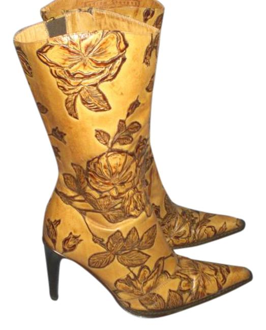 Andrew Stevens Tan Made In Italy Leather 37.5 Boots/Booties Size US 7 Regular (M, B) Andrew Stevens Tan Made In Italy Leather 37.5 Boots/Booties Size US 7 Regular (M, B) Image 1