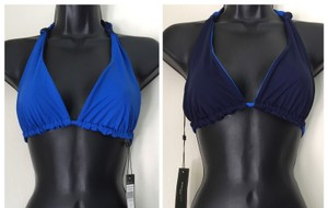 BCBGMAXAZRIA Navy / Blue Reversible Bikini top Bathing Suit
