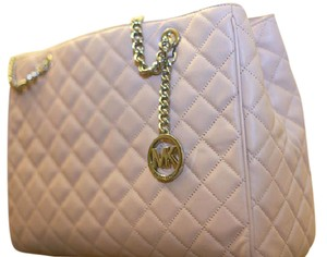 Michael Kors Leather Pink Rose Blush New Large Tote in Pink Blush