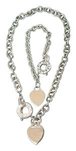 Tiffany & Co. Authentic Tiffany & Co. Heart Tag Toggle Necklace and Bracelet Set