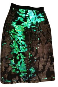 Topshop Skirt dual colors of black and green