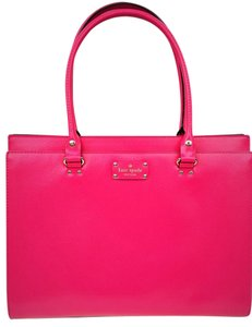Kate Spade Work Shoulder Leather Tote in Pink