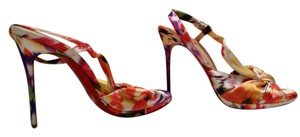 Christian Louboutin Floral Louboutin Red Bottoms Satin Bouquet Multi Sandals