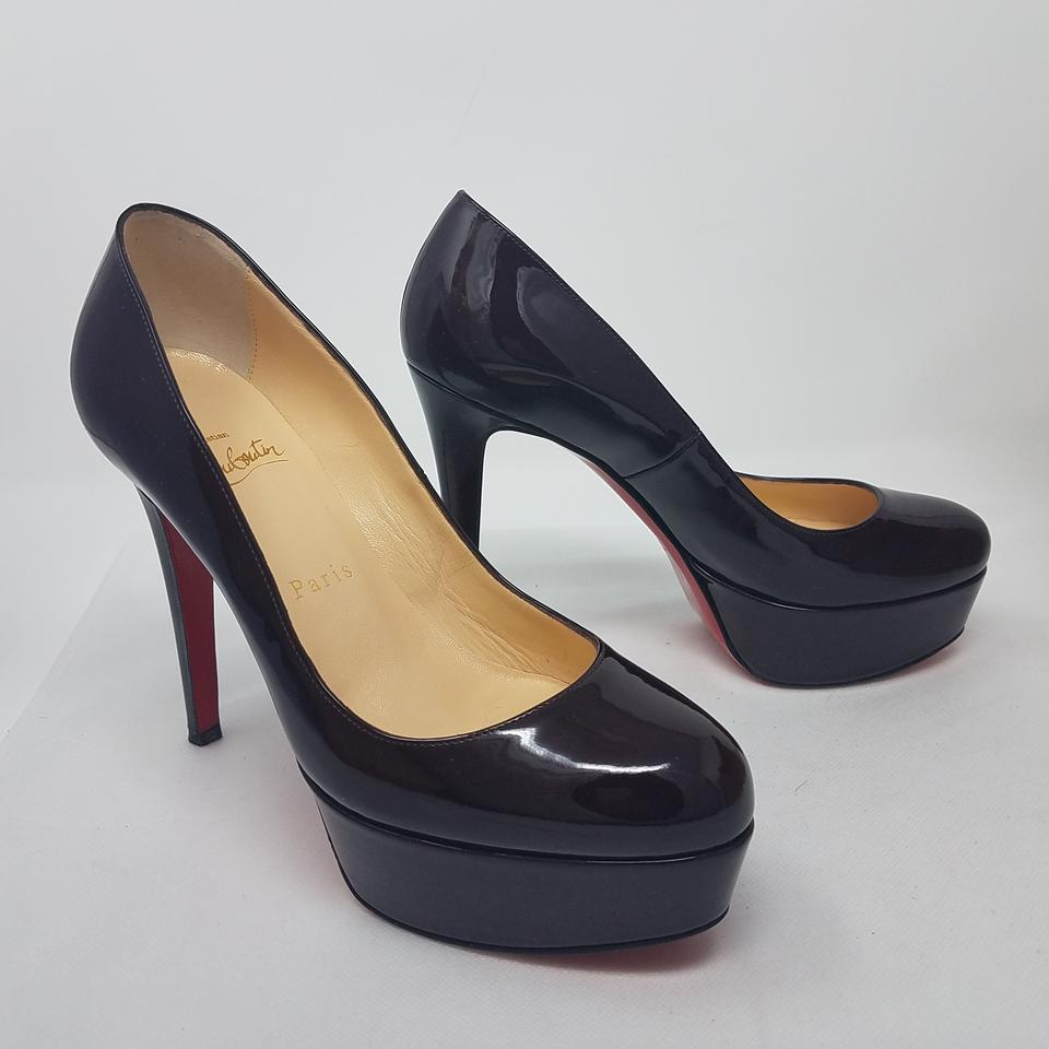 227a691f5b8 Christian Louboutin Purple Plum Patent Leather Bianca 120 Pumps Size ...