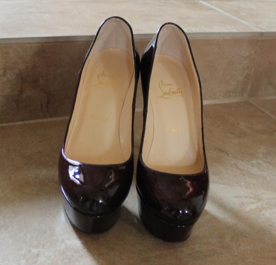 Christian Louboutin Bianca 120 120 Mm Plum Patent Patent Leather Stiletto Platform Hidden Platform Round Toe Purple Pumps
