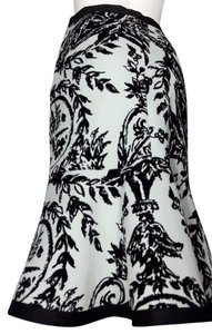 Odille Skirt Pale blue with black toile print