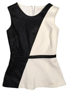 Boston Proper Color Leather Top Black & White