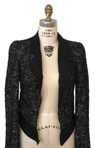 Juicy Couture black and white tweed Blazer