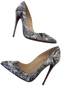 Christian Louboutin Pigalle Follies marble gray multicolor Pumps