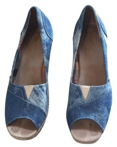 TOMS Denim Wedges